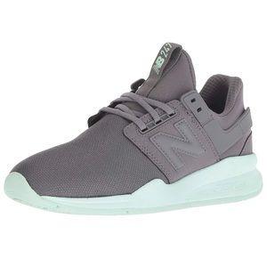 Women's size 6.5 247 new balance gray teal sneaker